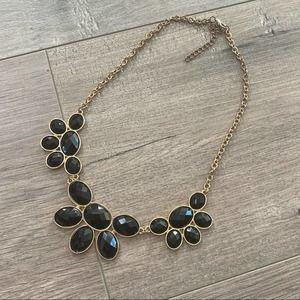 Francescas Black & Gold Statement Necklace